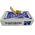 MATCH BOOKS PLAIN WHITE 50PK X 40BX