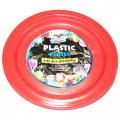 PLASTIC PLATE RED 9 INCHES 12CT